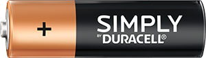 Bare ved Duracell AA-batteri
