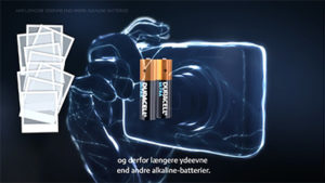 Illustration af Duracell Ultra-batterier til digitalt kamera