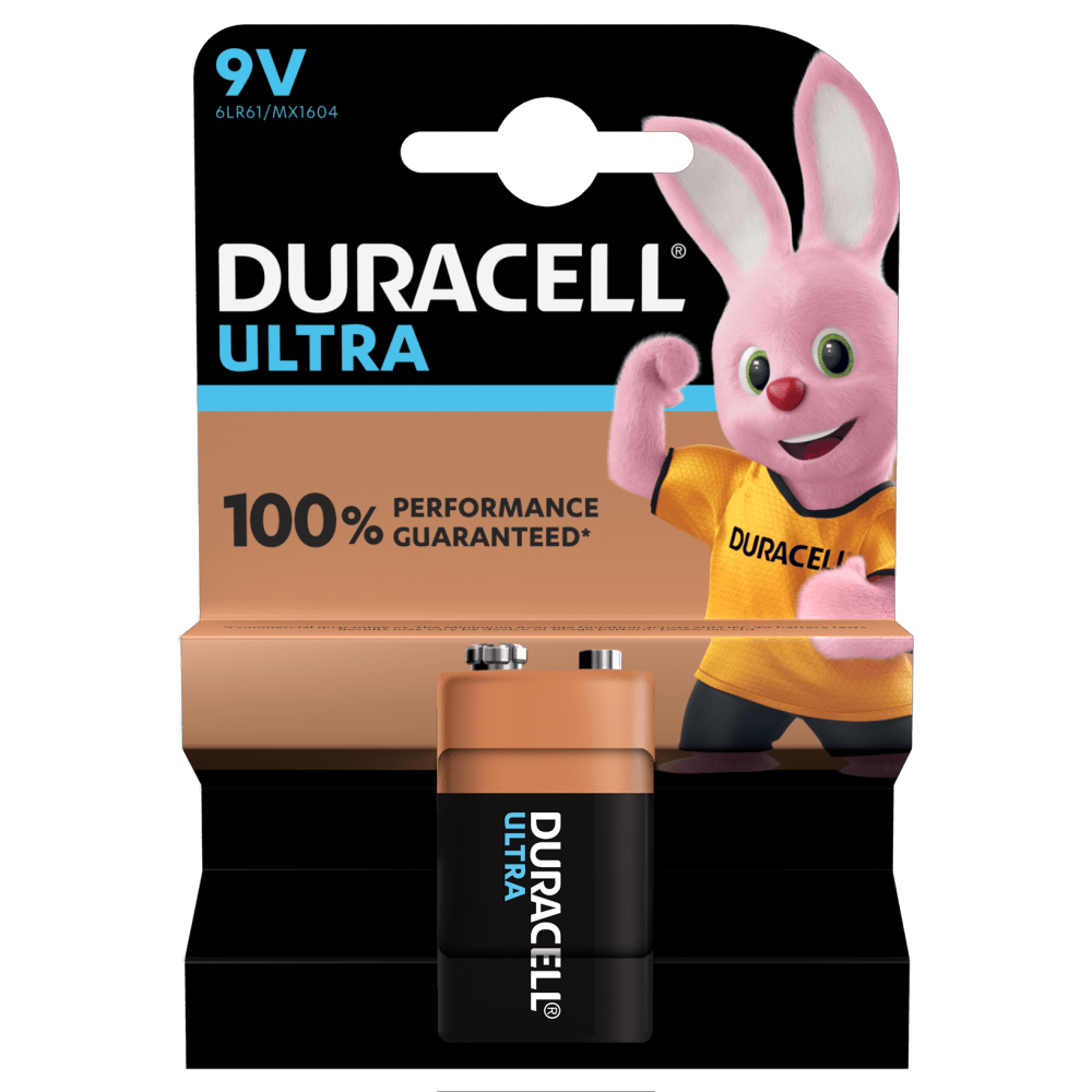 Duracell Ultra Alkaline Battery 9v