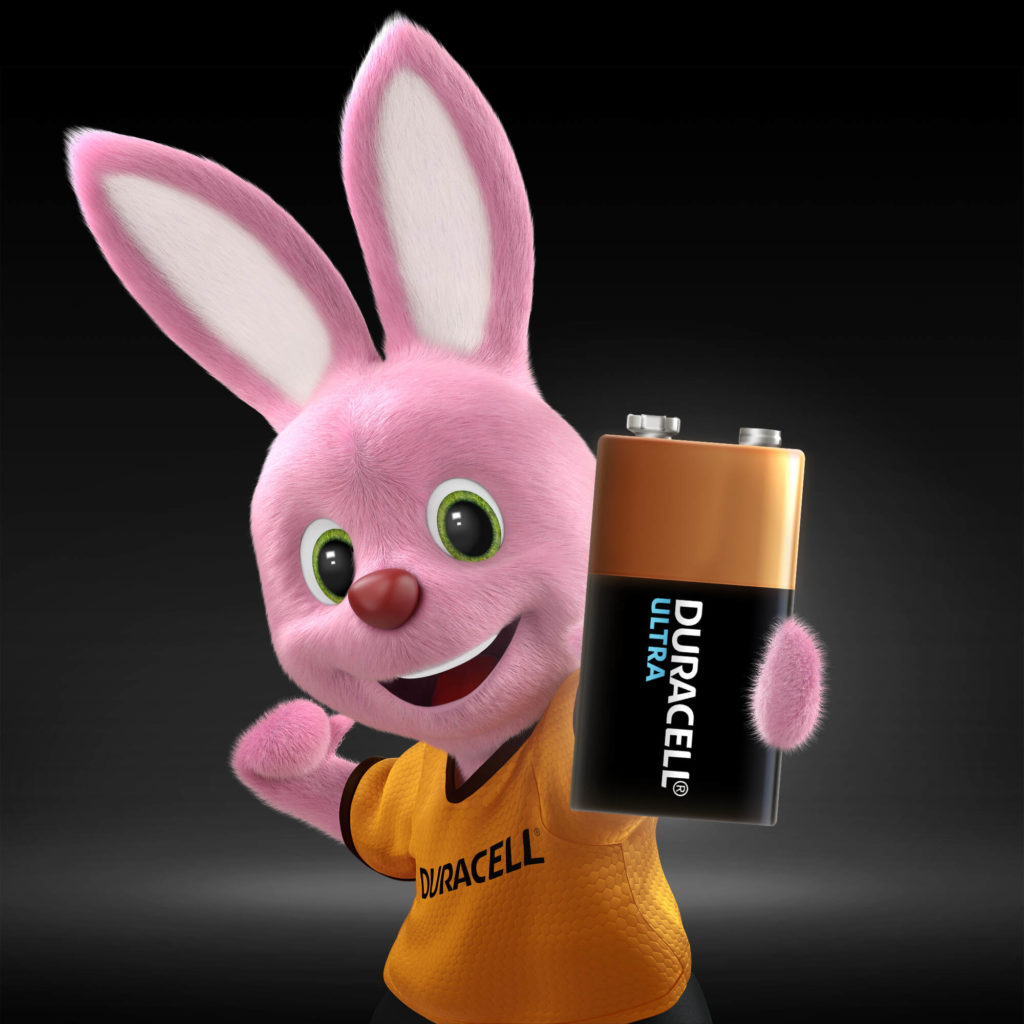 Duracell Pink Bunny holder Ultra Alkaline 9V Batteri