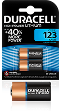 Duracell Speciality Lithium 123 Batterier