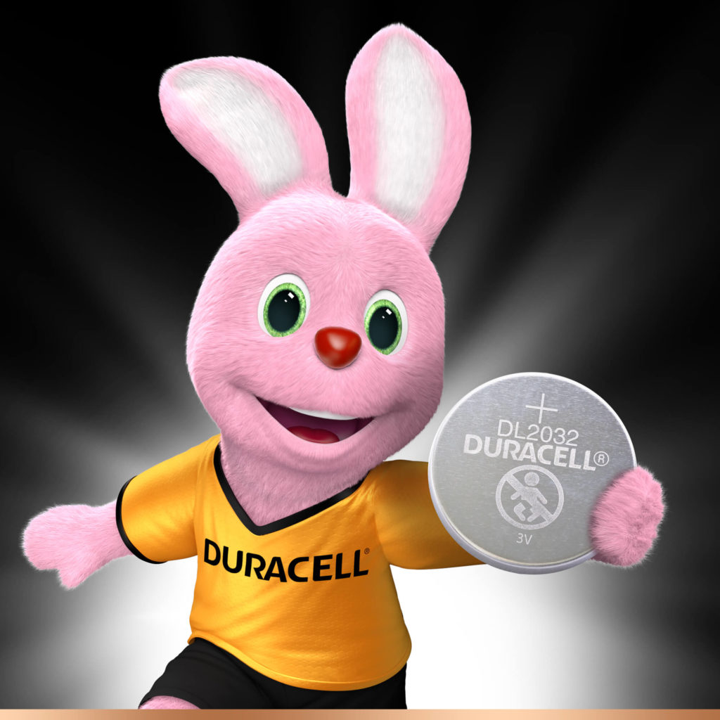 Duracell Bunny introducerer Lithium Coin 2032-batteri